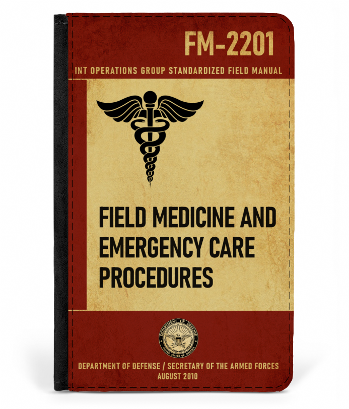 Field Training Manual FM-2201 from Last of Us Faux Leather Design Passport Cover